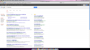 Google Search page after Mashreq unseats Standard Chartered at the top