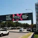 Lexus goads competitors with targeted OOH campaign down under