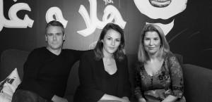 From left: Scott Feasy, CEO M&C Saatchi UAE; Amy Brill, head of PR, UAE, M&C Saatchi UAE; Molly Aldridge, global CEO M&C Saatchi PR