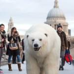 Giant 'polar bear' unleashed in London for Sky Atlantic stunt
