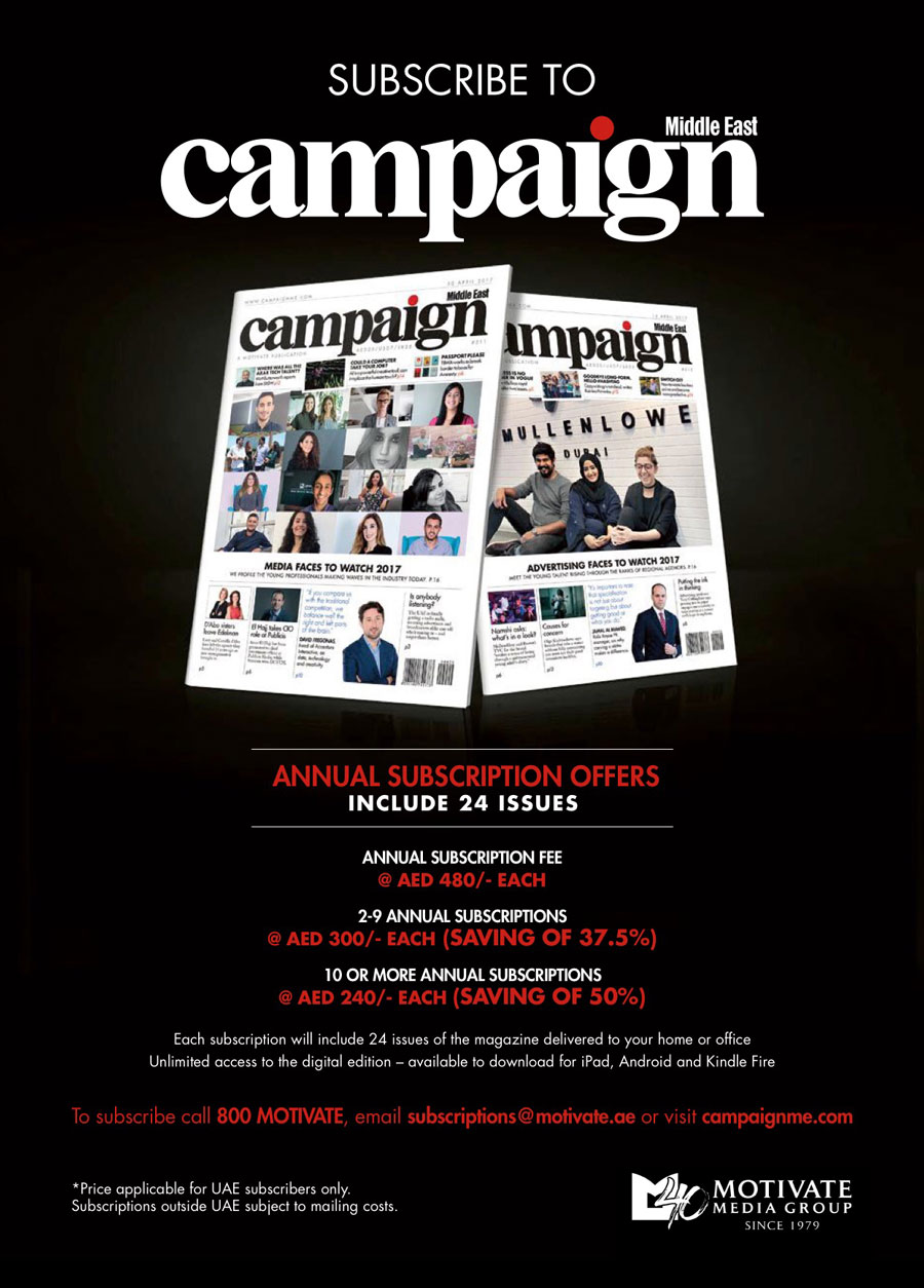 Subscribe to Campaign Middle East print edition – Campaign